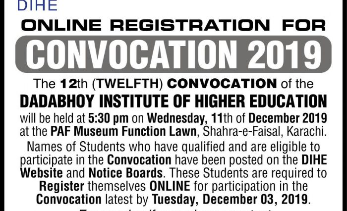 ADVERTISEMENT OF CONVO 2019 AD IN JANG & NEWS 28 NOV