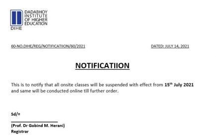 classes closer notice
